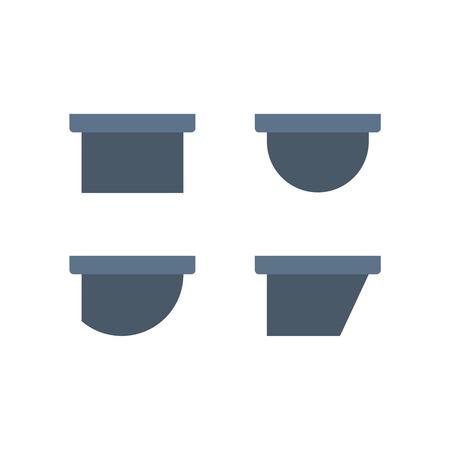 Gutter and drainage system icon. Иллюстрация