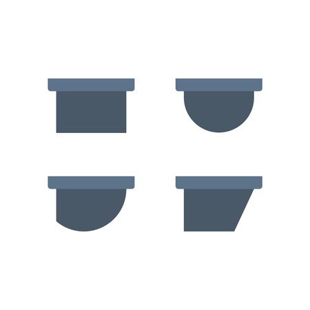 Gutter and drainage system icon. Ilustração
