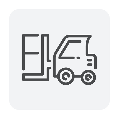 Shipping icon design, editable stroke.