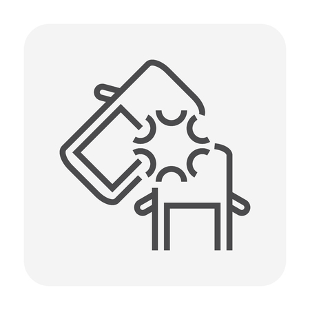 Car accident icon design, 64x64 perfect pixel and editable stroke.