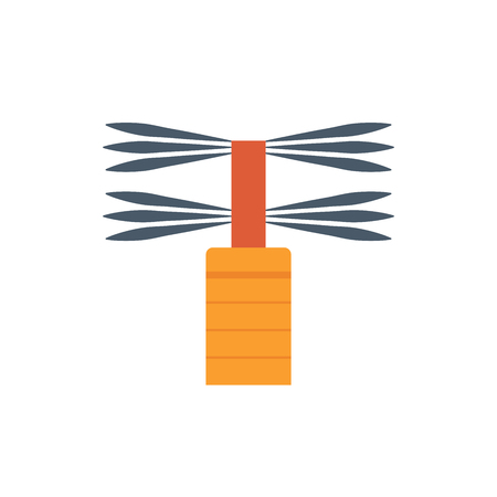 Brush for duct cleaning icon.