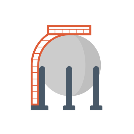 Induustry gas tank storage icon design.