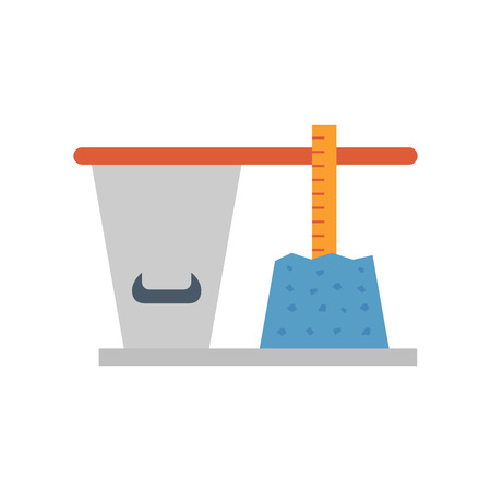 Concrete slump testing icon design.
