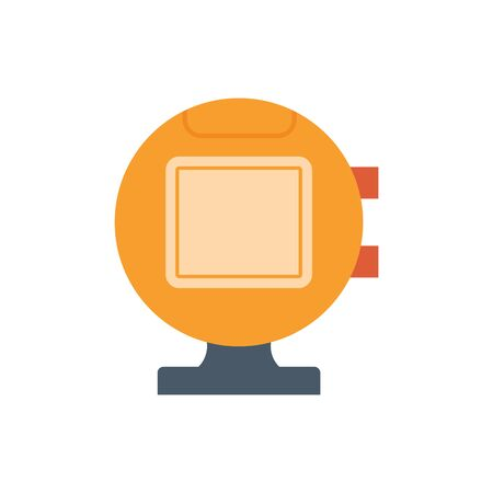 Sport camera and photography equipment vector icon.