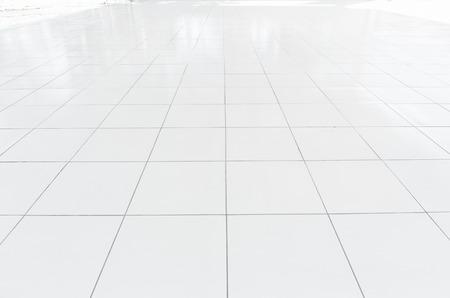 Carrelage blanc état propre avec ligne de quadrillage pour l'arrière-plan. Banque d'images