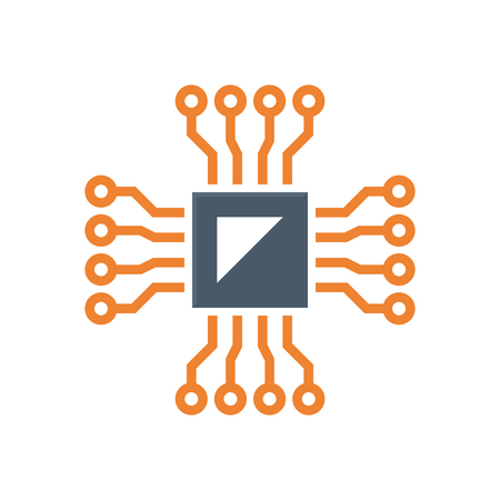 Microchip and testing  icon design