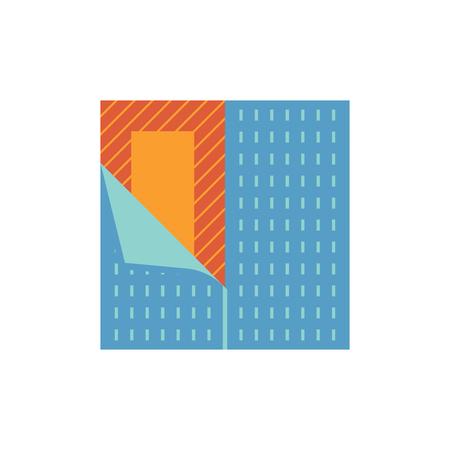 Vinyl floor construction icon on white. Vector Illustration