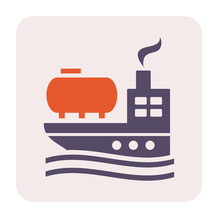 Tanker and oil gas transportation icon design, 64x64 perfect pixel and editable stroke.