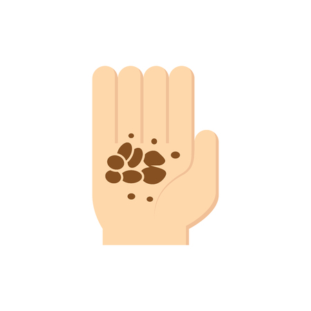 Soil in hand icon design. Vectores