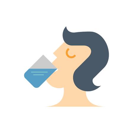 Wassergetränk und Gesundheit Icon-Design.
