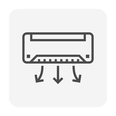 Klimaanlagensymbol, 64x64 perfektes Pixel und bearbeitbarer Strich.