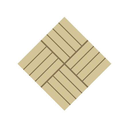 Concrete paver block brick floor icon for landscaping design. Vektorgrafik