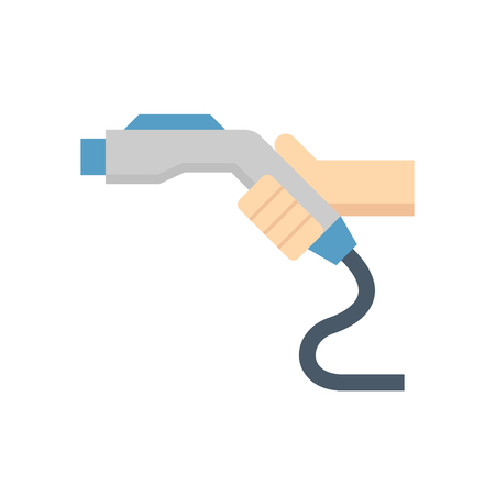Natural gas nozzle for vehicle color icon. Illustration