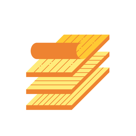 Wood floor material  icon design on white. Ilustrace