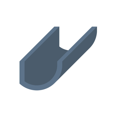 Gutter and drainage system icon. Illustration