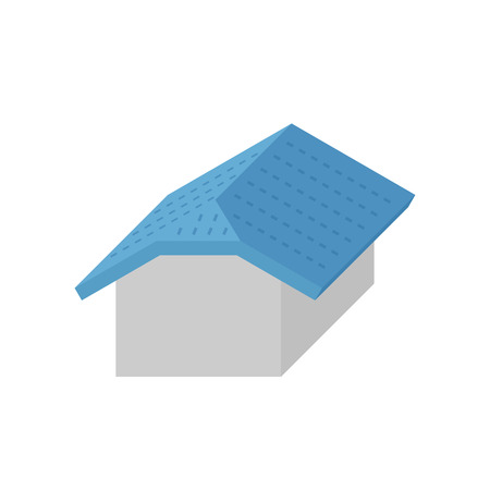 Roof type and house vector icon design. Illustration