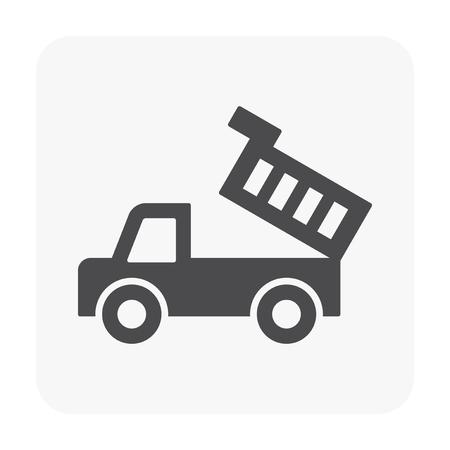 Vehicle icon on white. Illustration