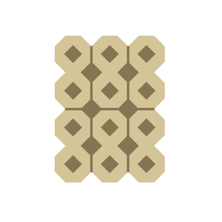 Concrete paver block brick floor icon for landscaping design. Stock Vector - 121280417