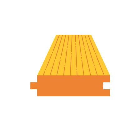 Wood floor material  icon design on white. Illustration