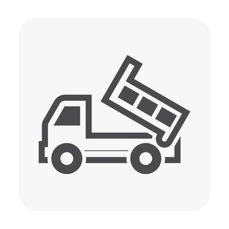 Tipper truck icon on white. Illustration