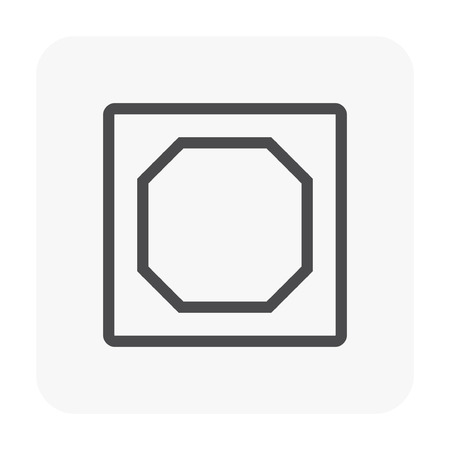 Ceiling work and material icon.  イラスト・ベクター素材