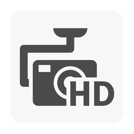 Drone and equipment icon on white.