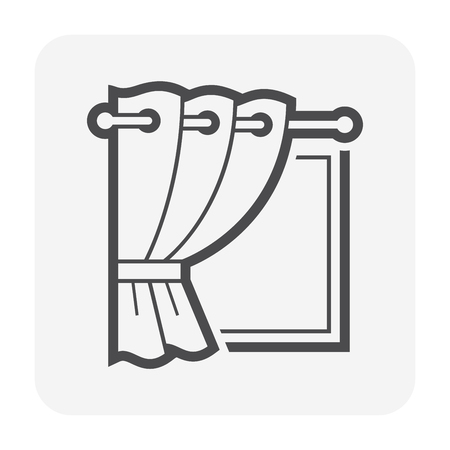 Curtain and blind icon design.