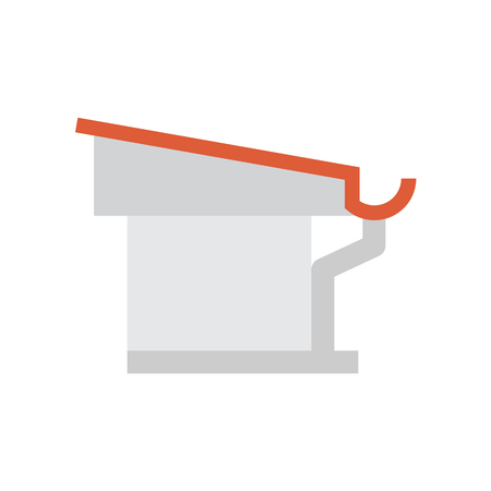 Gutter and drainage system icon. Stock Illustratie
