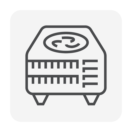 Air compressor icon, 64x64 perfect pixel and editable stroke.