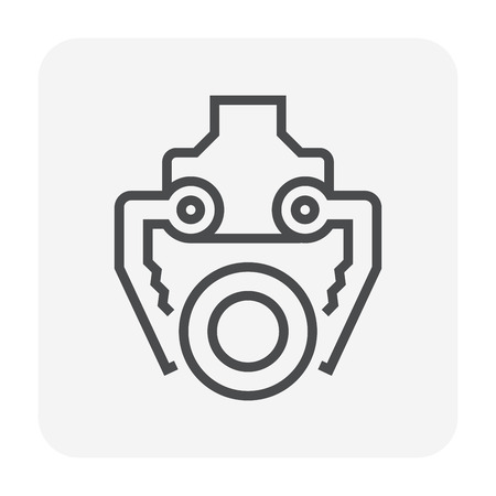 Steel production industry icon, 64x64 perfect pixel and editable stroke.