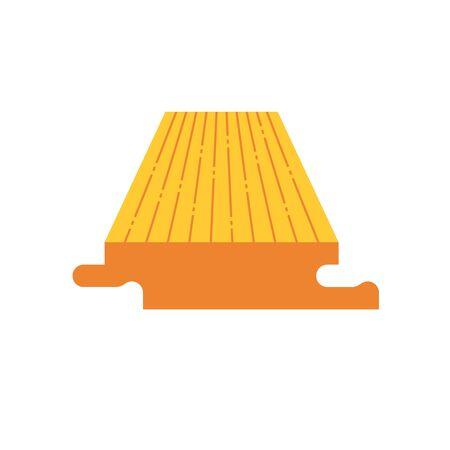 Wood floor material  icon design on white. Ilustração