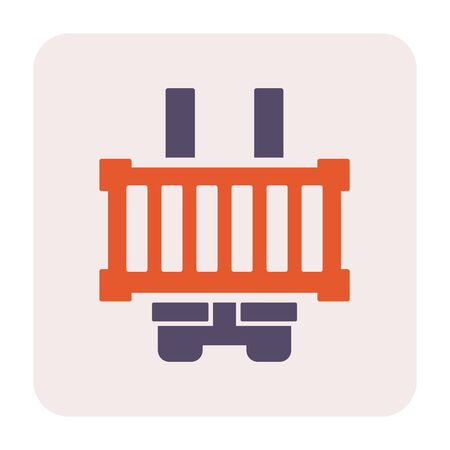 Carg container icon design, for shipping work, 64x64 perfect pixel and editable stroke. Standard-Bild - 124854802