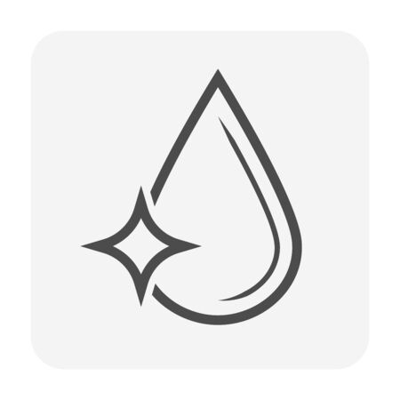 Clean water or water drop vector icon design. Illustration