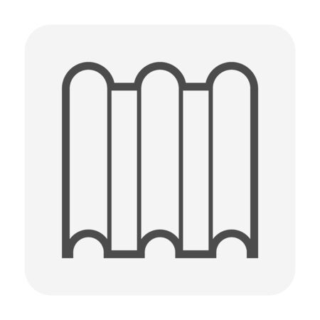 Roof tile and material icon design. Illustration