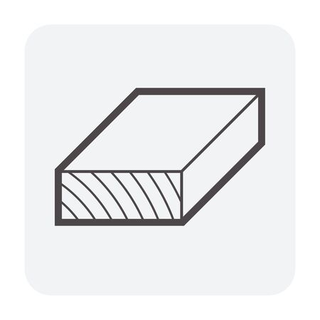 Wood and sawmill icon design, black and outline.