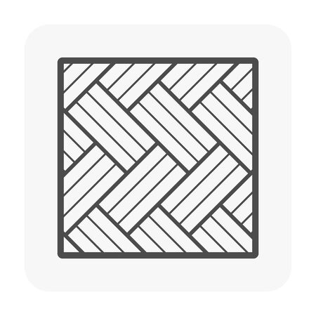 Wood floor and material icon. Иллюстрация