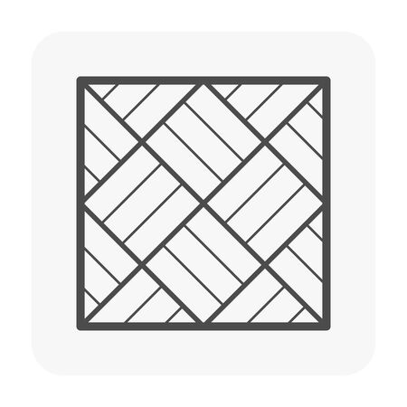 Wood floor and material icon. Vectores
