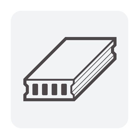 Diseño de icono de vector de losa de cubierta para el trabajo de diseño de concepto de construcción.