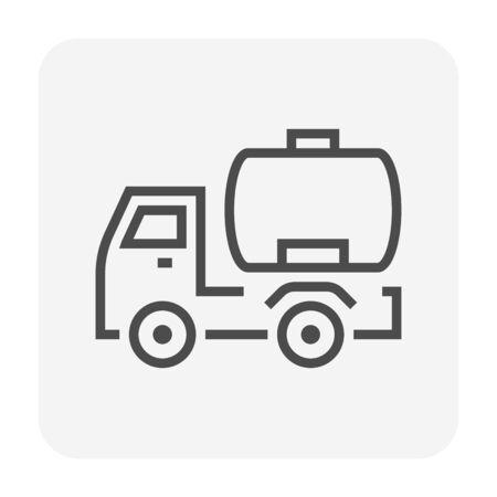 Oil truck icon design, 64x64 perfect pixel and editable stroke.