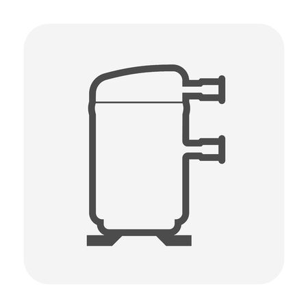 Scroll air compressor part of air conditioner system icon design.