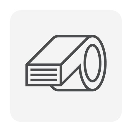 Air conditioner icon, 64x64 perfect pixel and editable stroke.