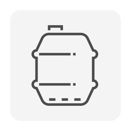 Gallon of oil icon design, black color, 64x64 perfect pixel and editable stroke.