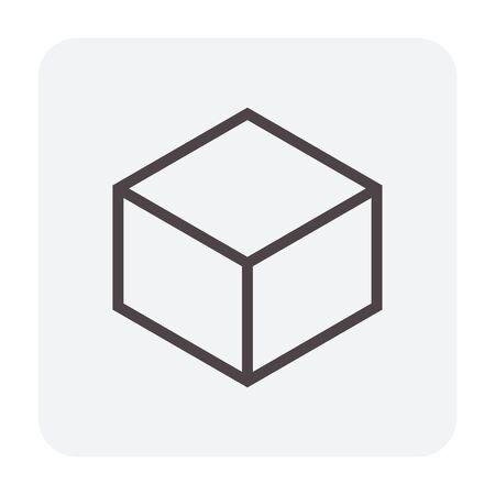 Concrete paver block floor icon, editable stroke. Stockfoto - 129298233