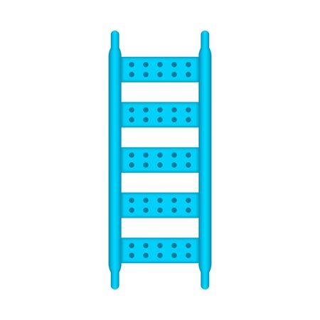 Ladder part of scaffolding icon design.