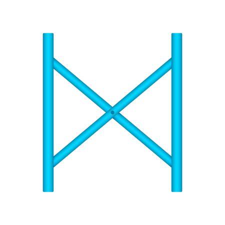 Scaffolding frame icon design.