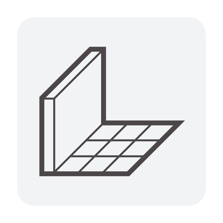 Tile floor and material vector icon design for interior architectural concept design work.