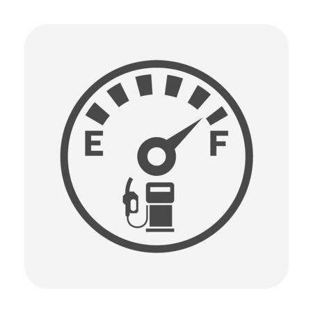 Oil gas gauge vector icon design for oil gas industrial concept design.