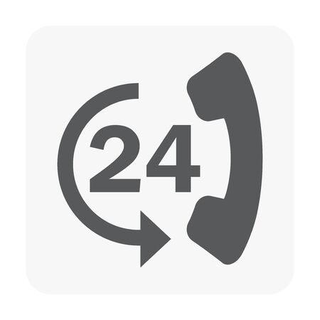 Call center icon on white.