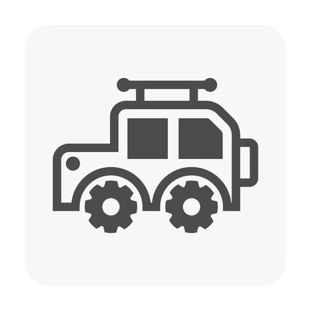 Off-road and motocross vector icons. Zdjęcie Seryjne - 129298400
