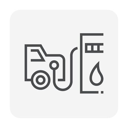 Petrol station and equipment icon design, editable stroke. Foto de archivo - 129298502